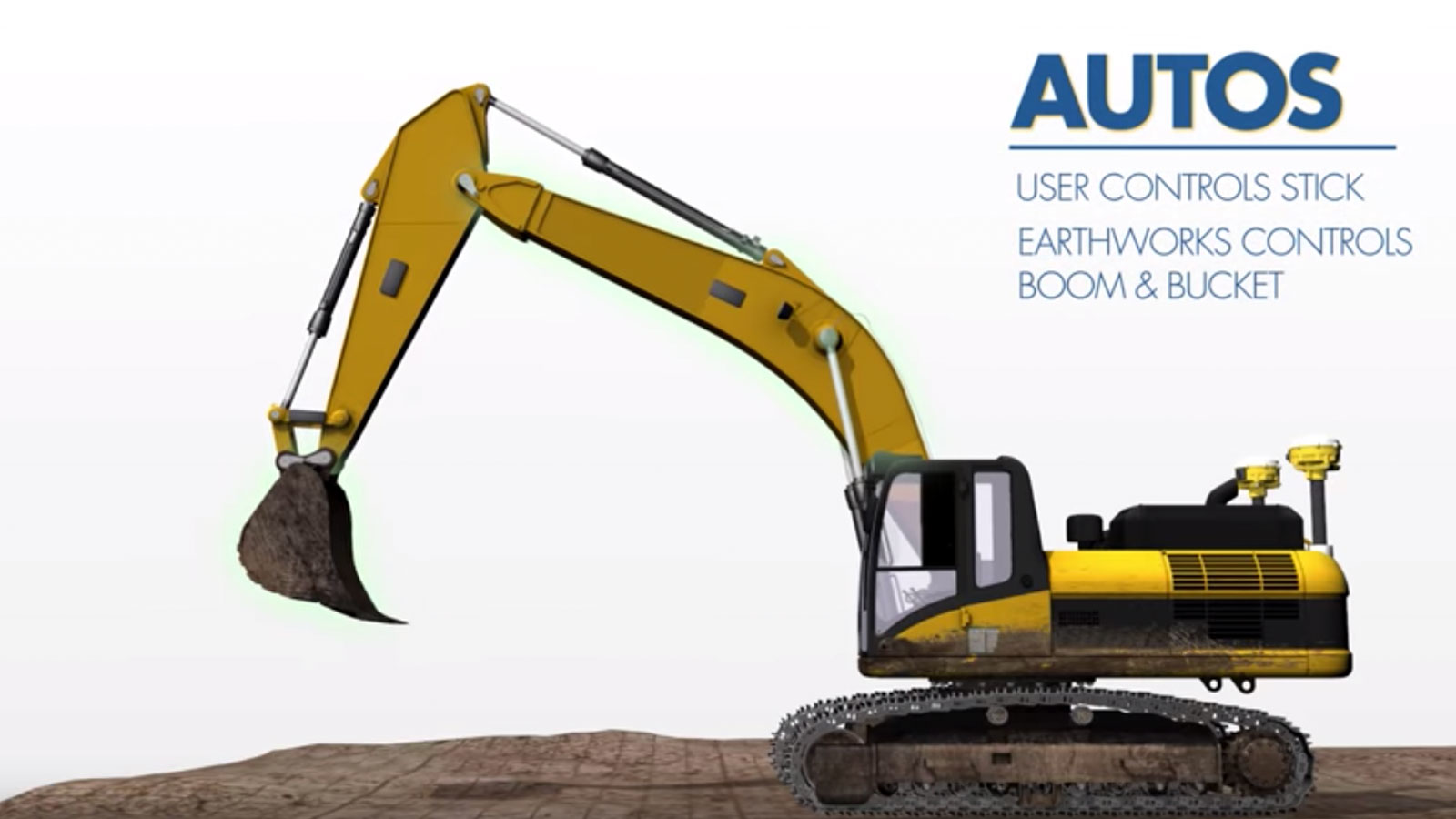 Automatic excavator control by Trimble
